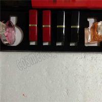 مجموعات ماكياج الشهيرة الجديدة 2 قطع عطر + 4pcs أحمر الشفاه مع مربع 6 في 1 عطر dhl السفينة حرة