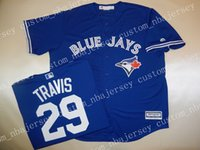 Cheap Custom DEVON TRAVIS SEWN Baseball jerseys Stitched Ret...