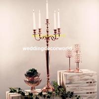 Neuer Stil hoch keine hängen Crystal Votive Kerzenhalter Gold Hochzeit Kandelaber Kronleuchter Mittelstück decor420