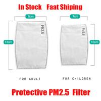 5 couche de protection PM2,5 PM 2.5 Filtre papier Masque jetable Masques Joint intérieur Filtre de rechange Pads Respiratoire Masque Beaucoup En stock