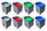 TIPTOP 8XLOT DJ Par 6 Цвет UV батареи Свобода RGBWA Powered Wireless LED стиральная машина света 6 X 6W высокой мощности Яркий Мини алюминиевый этап УФ-бар
