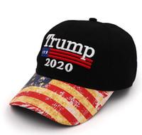 Nuevo bordado Trump 2020 Make America Great Again Donald Trump Gorras de béisbol Sombreros Gorras de béisbol Adultos Sombrero deportivo Bonito regalo T176