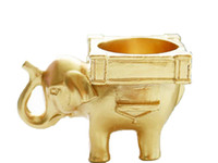 Sorte Golden Elephant vela tealight Titular da porta do casamento presentes Favores Lembranças Brindes atacado Frete grátis