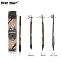 Müzik Çiçek Kaş Kalemi Tonla 1 Süper İnce Kalem Meslek Su geçirmez 24h Hassas Kaş Uzun ömürlü olarak Makyaj 2