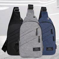 kulaklık deliği şarj torbanın Adisputent Açık erkekler göğüs çanta gündelik su geçirmez omuz diyagonal paket Kore versiyonu