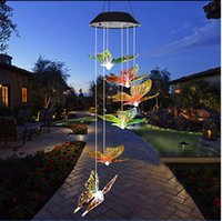Kinds Of Solar Light Outdoor Powered LED Wind Chime Color Change Spiral Wind Chime Outdoor Light Navidad Xmas Garden Light HOT