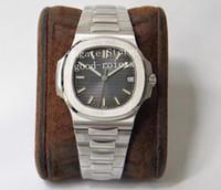 Лучшая версия мужские часы PPF Factory Mens Automatic Cal.324 SC дата синий серый циферблат мужчины Eta 5711 платиновые часы прозрачные наручные часы