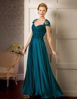 2020 Sexy Hunter Green Jasmine Capped Sleeves Mother Of The Bride Dresses Кружева Вечерние Платья Длина Пола Шифон Свадебное Платье Для Гостей