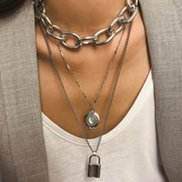 Fashion jewelry exaggerated metal punk chain pendant women&#...