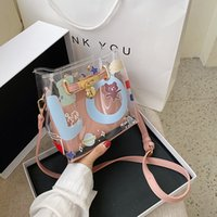 Transparent Leather Contrast Color Crossbody Bags for Women ...