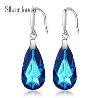 New 925 Silver Euramerican Earrings with Swarovski Crystal P...