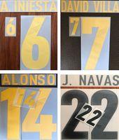 2012 2013 Espagne impression ALONSO A.INIESTA DAVID VILLA lettres estampillage de joueur de football J.NAVAS de football impressionné autocollants en plastique