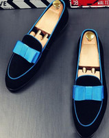 2019 Designer de Verão Lindo Bowknot Homens Mocassins De Veludo Gentel Chinelos Sapatos Apartamentos de Luxo Da Bailarina Elegante Mocassins Homens
