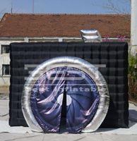 Высококачественная камера Cable Cube фото стенд светодиодный надувной квадратный фото стенд с красочным светодиодом для фотографических событий вечеринка сцена свадебный декор