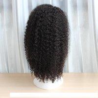 B Tutkalsız Dantel Açık Bakire İnsan Saç Peruk Frontal Dantel Peruk Afro Kinky Kıvırcık Stil Ücretsiz Bölüm Orta Kısım 8 -22 İnç Afrikalı Amerikalı