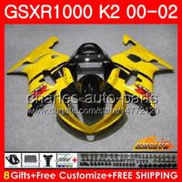 Telaio per SUZUKI GSX-R1000 GSXR1000 K2 GLOSSY GLOSSY GSX R1000 00 02 KIT BODYS 14HC.6 GSXR-1000 GSXR 1000 00 01 02 2000 2001 2002 carenatura