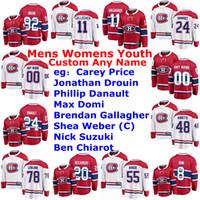 Montreal Canadiens jerseys para mujer de Brendan Gallagher Jersey Carey Precio Jonathan Drouin Phillip Danault Domi hockey jerseys cosido personalizada