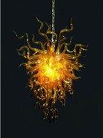 100 % 입 풍선 CE UL 붕규산 무라노 유리 데일 치 훌리 (Dale Chihuly) 예술 앰버 유리 펜던트 이국적인 램프