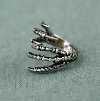retrò gioielli europei e americani esagerata punk rock dell'aquila anello artiglio anello artiglio personalità femminile