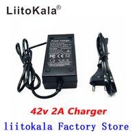 LiitoKala 36V 2A 18650 carregador de saída 42V 2A Carregador de entrada de lítio de iões de Li-poli Carregador Para 10SERIES 36V Eléctrica bicicleta