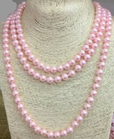 Single LONG Strand 8MM Faux Imitation Pearl HANDCRAFT KNOTTE...