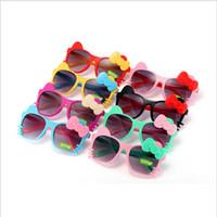 어린이 선글라스 활 고양이 여름 아기 안경 소년 소녀 어린이 만화 선글라스 음영 태양 그늘 접는 안경 6 색