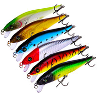 DHL shipping New 6 Colors Plastic 6# 3 Hooks Minnow Fishing ...