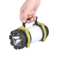캠프 램프 LED 캠핑 라이트 USB 충전식 손전등 디 밍이 스포트 라이트 작업 등 방수 서치 비상 토치