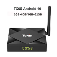 Tanix TX6S Android 10 TV Boîte Alllwinner H616 2.4G 5G WIFI BT5 6K SET TOP Stream Joueur de multimédia 2GB 8GB 4GB 32GB