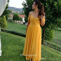 2019 di sconto sulla spalla Dress Damigella d'onore Elegante A Line Chiffon Maid of Honor Dress Guest Dress Plus Size