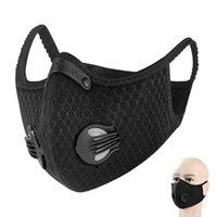Cyclisme demi-masque de visage avec filtre respiratoire Valve PM 2,5 charbon actif anti-pollution Hommes Femmes Vélo Sport Bike Masque anti-poussière