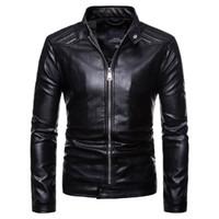 Евро размер новый мужской мотоцикл кожаная куртка Euromarket Jacke jaqueta плюс размер jacka черный цвет мужчины пальто Ледер куртки