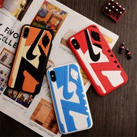 Matte Silicone 3D Basketball Shoes Pattern PC Phone Cover Sp...