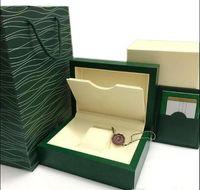 Tarjeta de relojes de regalos verdes de la caja de la caja verde de la caja de las cajas de las cajas de las cajas de las cajas de la bolsa de cuero 0,8 kg para la caja de relojes de Rolex con bolsa