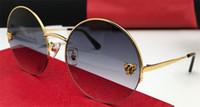 Lujo- nuevo diseñador de moda gafas de sol 1084 retro marco de metal redondo estilo de moda vintage estilo de diseño popular de calidad superior con caja