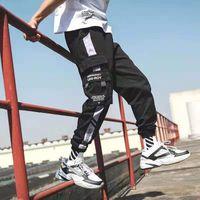 Pantaloni da uomo 2021 uomini multi-tasche harem pantaloni anca streetwear pantaloni hombre maschile casual moda moda cargo jogger