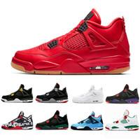 best sneakers c5cb2 5977c Nueva llegada para hombre 4 4s zapatos de baloncesto Cactus Jack Cemento  blanco Juego Royal Motor