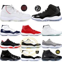 11 Basketball-Schuhe Gym Rot Platinfarbton Prom Night Concord 45 Space Jam 11s Bred Men Cap und Gown Sneakers US 5.5-13