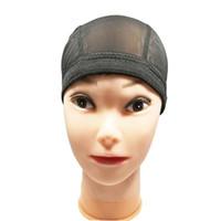 5 шт. / Лот растяживаемая черная ткацкая шапка эластичная диапазона нейлоновая сетка чистый купольный стиль сетки парик шапка для париков шить в волосах