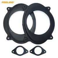 """Stereo FEELDO Car Speaker Spacer Mat para Toyota Camry Tacoma Mudança 6x9"""" para 6,5"""" Front Speaker Adapter anel espaçador Pads # 6032"""