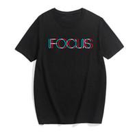 2018 mode T-shirt männer buchstaben FOCUS T-shirt kurzarm neuen sommer männer Harajuku stil shirt T-shirt MC15