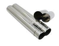 Durable Poids léger en acier inoxydable Tube 2 Cigares Case Tube Porte-conteneur Cigarette Voyage tabac à fumer Carry Case SN1167