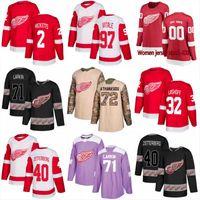 Detroit Red Wings Trikot 59 Tyler Bertuzzi 61 Jacob De La Rose 26 Thomas Vanek 42 Martin Frk 39 Anthony Mantha 21 Cholowski Hockey Trikots