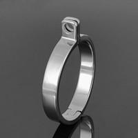 أجهزة العفة قاعدة خاتم المفاجئة الدائري الاكسسوارات ثقب دائري حلقة 5 الحجم للذكور العفة قفص جهاز عبودية الجنس اللعب
