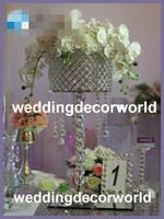 新しいスタイルのアクリルガラスクリスタルランタンセンターピースの背の高い大きさのクリスタルフラワースタンド花の花瓶のための花瓶のための花瓶298