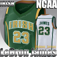 NCAA irlandês St. Mary LeBron James 23 Jersey Kevin Durant 35 Jerseys James Harden 13 Russell Westbrook 0 Stephen Curry 30 Basketball Jersey