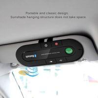 عدة السيارة غير اليدوية Bluetooth Bluetooth Wireless Speaker الهاتف مشغل موسيقى MP3 Sun Visor Clip Speakerphone مع شاحن سيارة