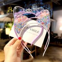 Уши Cute Rabbit Cat стяжки ребёнка Hairbands Корейских Дети принцессы Детских аксессуары для волос Scrunchie Рождественского подарок