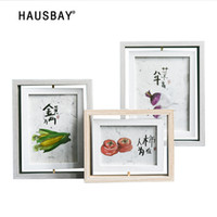 Double- sided Glass Photo Frame 6 inch 7 inch Wooden Photo Fr...