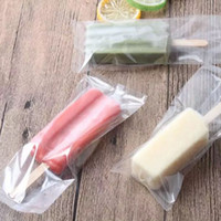 Sac de crème glacée en plastique dentelé transparent Opp Popsicle Paquet Poche Cuisson Emballage Alimentaire 8 * 19cm Gros ZC0342